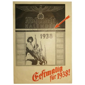 Advertising brochure - The new Calendar for 1938 year, issued by magazine Die Wehrmacht. Espenlaub militaria