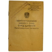 Austrian ID Card for period of allied occupation