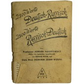 German- Russian Phrasebook from the period of soviet occupation of Austria in 1945