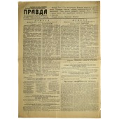 "Russian newspaper PRAVDA-""Truth"" - Газета ""Правда"" August,23 1944"