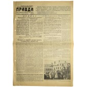 "Soviet newspaper PRAVDA  -""Truth""  July, 06 1944."