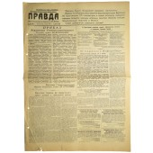 "Soviet propaganda newspaper PRAVDA  -""Truth""   July,02 1944"