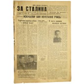 "The newspaper of naval aviation of Baltic Fleet "" For Stalin"" ""За Сталина"" 8. August 1944"