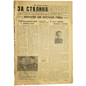The newspaper of naval aviation of Baltic Fleet  For Stalin За Сталина 8. August 1944. Espenlaub militaria