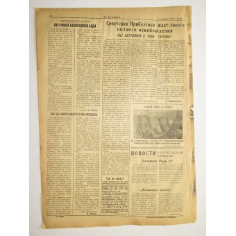 The Red Navy newspaper For Stalin 11. August 1944. Espenlaub militaria