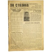 "The Red Navy newspaper ""For Stalin"" 23. August 1944"