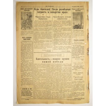 """The Red Navy newspaper """"For Stalin"""" 23. August 1944"""