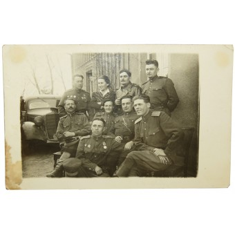 1945 Photo of Red-Army officers. Espenlaub militaria