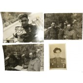 4 photos of RKKA officers - tankers