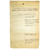 Imperial Russian family holding certificate for a person who has been called to duty