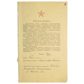 Military oath of a citizen of the USSR.  Politruk Isaiko Ivan.