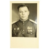 Photo of a medical senior lieutenant Kirillov certified by  Military Commandant, Germany