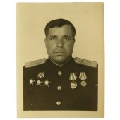 Photo certificate to naval engineer-colonel, the head of field workshops of Pacific fleet