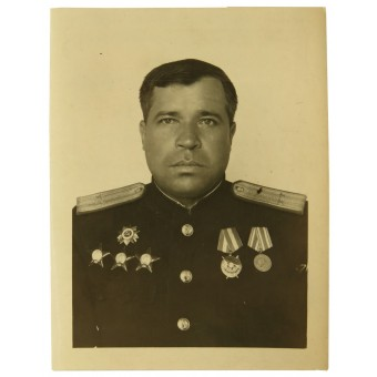 Photo certificate to naval engineer-colonel, the head of field workshops of Pacific fleet. Espenlaub militaria