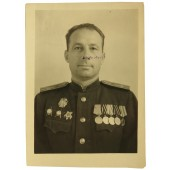 Photo-certificate. The head of the signal corps