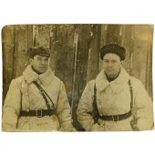 Photo of two commanders of the Red Army