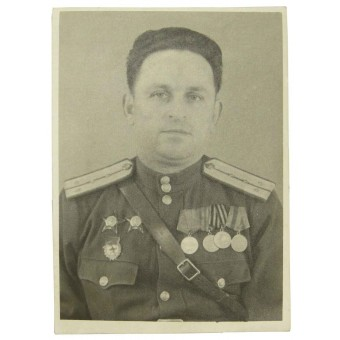 Red Army certified photo of soviet commissariat serviceman. Espenlaub militaria