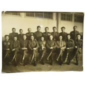 RKKA officers-cadets at high artillery school of the Red Army