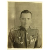 Photo of the captain of the Red Army artillery