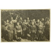 Photo of the Red Army Field Orchestra , August 1944