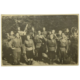 Photo of the Red Army Field Orchestra , August 1944. Espenlaub militaria