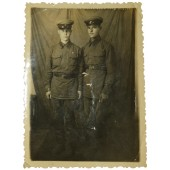 Studio photo of two Red Army soldiers