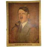 """The magazine """"Folk Art"""" with a portrait of A. Hitler.1942 year"""