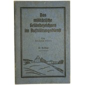 "German WW2. ""The military terrain drawing in reconnaissance service"""
