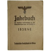 1939 NSDStB ( Ostmark) Almanach for technical students in 3rd Reich