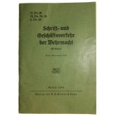 """Order book """"Writing and business transactions of the Wehrmacht"""""""