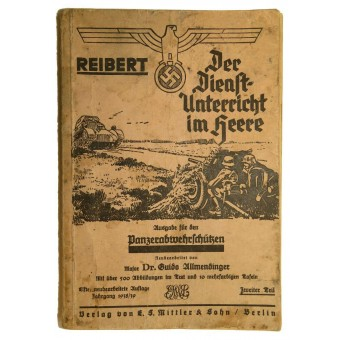 Reibert. Reference and tactical book for anti-tank units in Wehrmacht. Espenlaub militaria