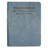 Soldier front prayer book from WWI period. 1914 year.