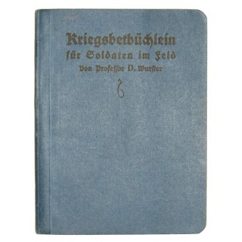 Soldier front prayer book from WWI period. 1914 year.. Espenlaub militaria
