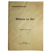 """""""Uphold the honor"""" - Published by the High Command of the Wehrmacht, 1940"""