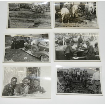 Set of Wehrmacht infantry soldier private photos. Eastern and western fronts.. Espenlaub militaria