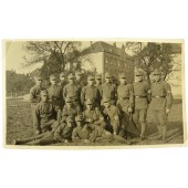 SA soldiers in front of the barracks