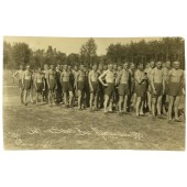 Wehrmacht platoon at the sport training