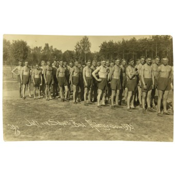 Wehrmacht platoon at the sport training. Espenlaub militaria