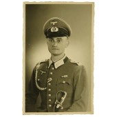 Wehrmacht Oberfeldwebel from 2nd MG Btl in dress uniform with sword