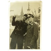 Photo of two brothers from Kriegsmarine and  Luftwaffe. 1942