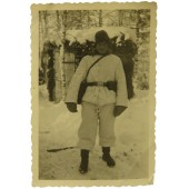 German soldier in winter camo