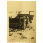 Photo of destroyed Horch 901 Sd.Kfz 15, Eastern front