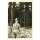Wehrmacht soldier with rare commemorative cuff title Spanien 1936-1939
