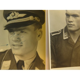 Set of the 6 photos, Luftwaffe Lieutenant, flying personnel. Espenlaub militaria
