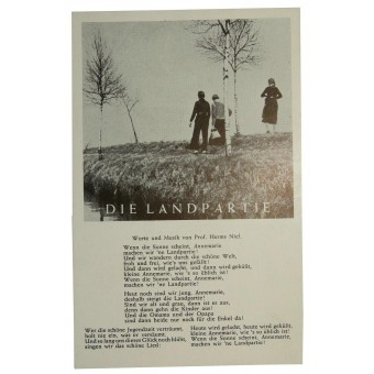 Postcard with soldier song Die Landpartie. Espenlaub militaria