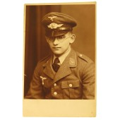 Photo portrait of the Luftwaffe anti-aircraft artillery enlisted rank soldier