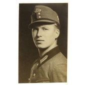 Photo of RAD Truppführer in a cap with the unit insignia