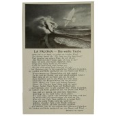 "Postcard with German military song ""Die weisse Taube"""