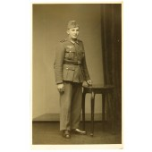 Studio photo of Wehrmacht enlisted rank soldier.