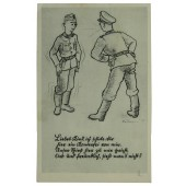 Wehrmacht, Funny soldiers postcard